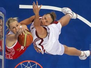 Баскетбол. Чемпионат Европы. Матч Латвия - Россия - 72:83