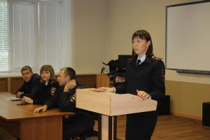 Встреча курсантов с сотрудниками правоохранительных органов