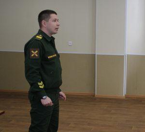 Встреча курсантов с представителем пункта отбора на военную службу по контракту