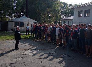 В колледже проведена тренировка по эвакуации курсантов