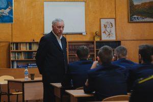 Встреча курсантов колледжа с Поповым Ю.Б.